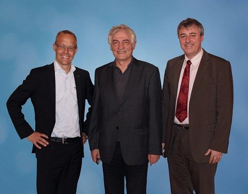 Стаффан Далстрем, Председатель Правления HMS, Конрад Этшбергер, основательВ IXXAT, Кристиан Шлегель, Технический директор IXXAT.