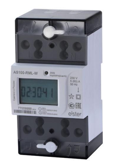 бытовой однофазный счетчик электроэнергии АЛЬФА СМАРТ AS100 со встроенным модулем Wi-Fi,