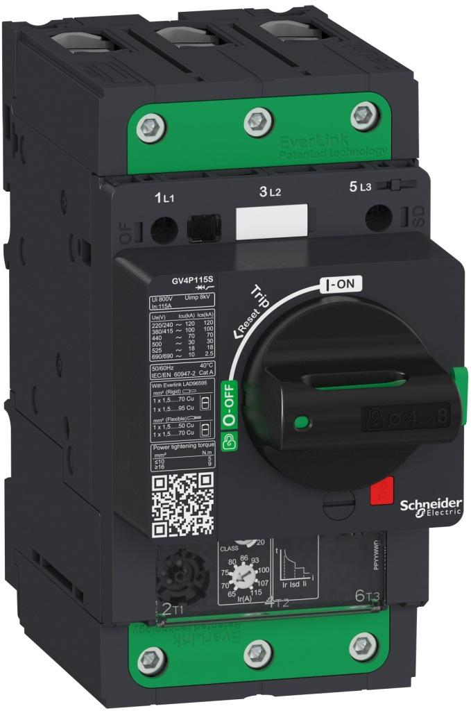 автоматический выключатель для защиты электродвигателей TeSys GV4