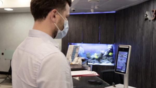 Решение для распознавания лиц и удаленного измерения температуры тела Visiocheck ТС19