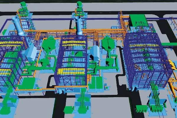 Каждая из трех турбин размещена в своем собственном здании с подведенными трубопроводами и электрическими соединениями. Источник: Alstom