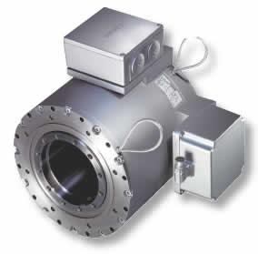 Вмонтированный в корпус высокомоментный двигатель прямого привода 1FW3 производства компании Siemens обеспечивает постоянный крутящий момент до 7000 Нм при скорости вращения 200 об/мин.