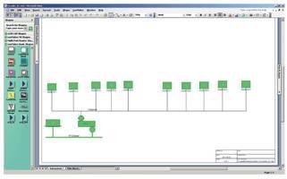 Схема сетевого подключения счетчиков в здании B-1 AGH