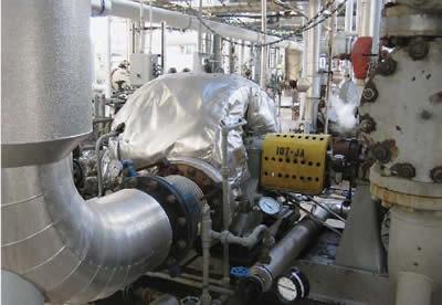 Одна из новых конденсационных турбин, установленная на втором заводе. Информация предоставлена Terra Nitrogen
