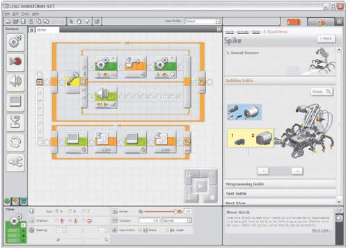 Игрушка-конструктор Mindstorms фирмы «Лего» (справа вверху) запрограммированнный с использованием одной из версий LabView позволяет приобрести инженерный опыт работы с настоящими виртуальными инструментами.
