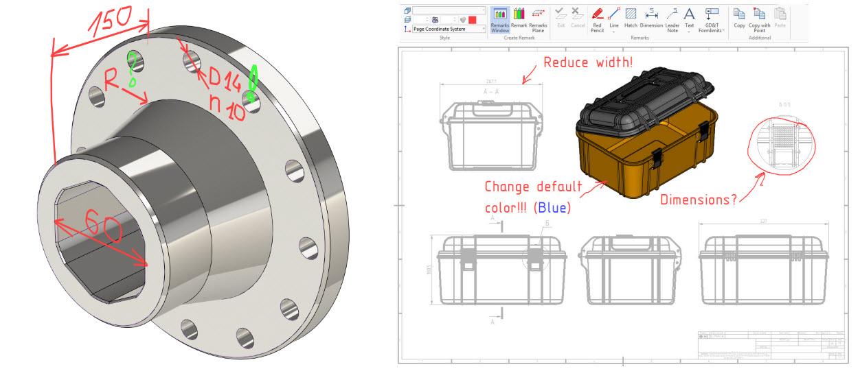 3D- и 2D-замечания в T-FLEX CAD 17