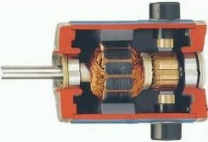 Коллекторный двигатель постоянного тока в разрезе