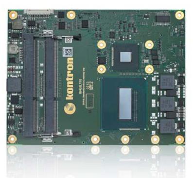 Поддержкановейших процессоров с наивысшим уровнем производительности — одно из наиболее существенных достоинств технологии COM Express. На снимке: серийный модуль COM Express форм-фактора basic на базе процессора Intel Core четвертого поколения