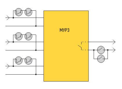 Применение ЭМРЗ на основе герконов для шунтирования чувствительных входов МУРЗ и блокирования цепи его выходного контакта