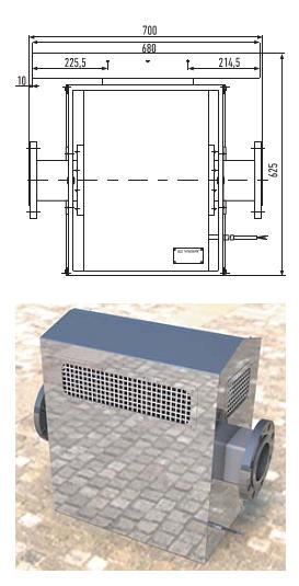 Генератор ТЭГ-5: а) габаритные размеры; б) внешний вид