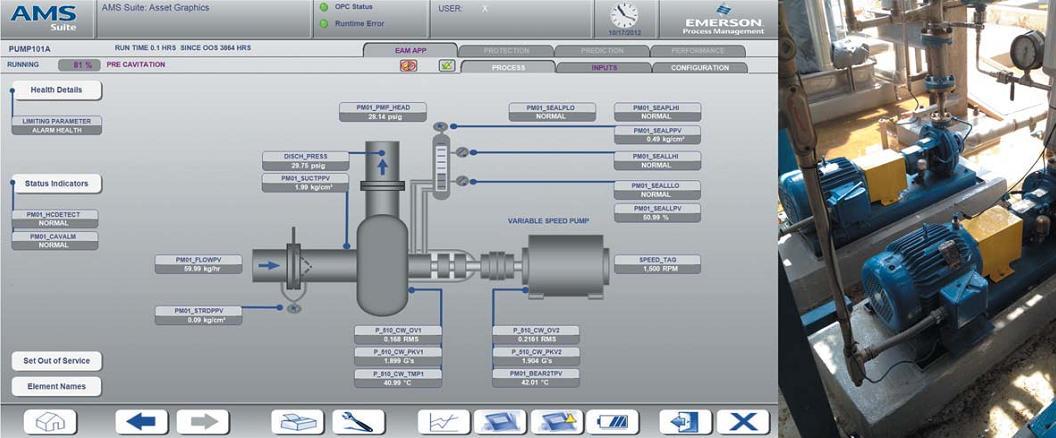 Беспроводной датчик вибрации, установленный на насосе, обеспечивает ценными данными автоматизированную систему контроля