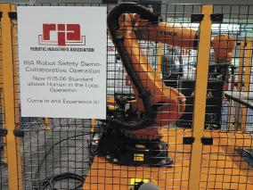 Робот Kuka за защитным ограждением