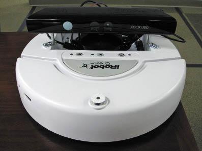 Рис. 7. Использование сенсора Microsoft Kinect, интегрированного с платформой Create компании iRobot
