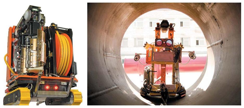 Рис. 7. Робототехнические комплексы для контроля и ремонта оборудования АЭС и газовой отрасли