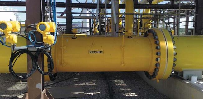 OPTISONIC 7300 DN750 дублированный, измерение расхода природного газа в газохранилище
