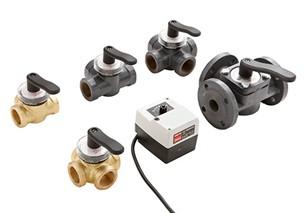 регулирующе поворотне клапане с электрическими приводами типа HRE, HRB, HFE