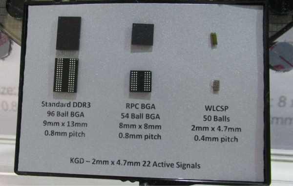 альтернативную архитектуру памяти DRAM (Dynamic Random-Access Memory — динамическая память с произвольным доступом) — RPC DRAM (Reduced Pin Count)
