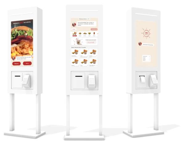 Киоск самообслуживание в ресторане быстрого питания