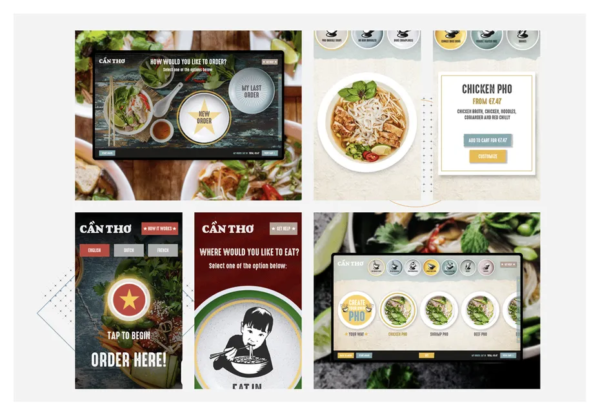 Дизайн пользовательского интерфейса Can Tho для самостоятельного заказа за столом
