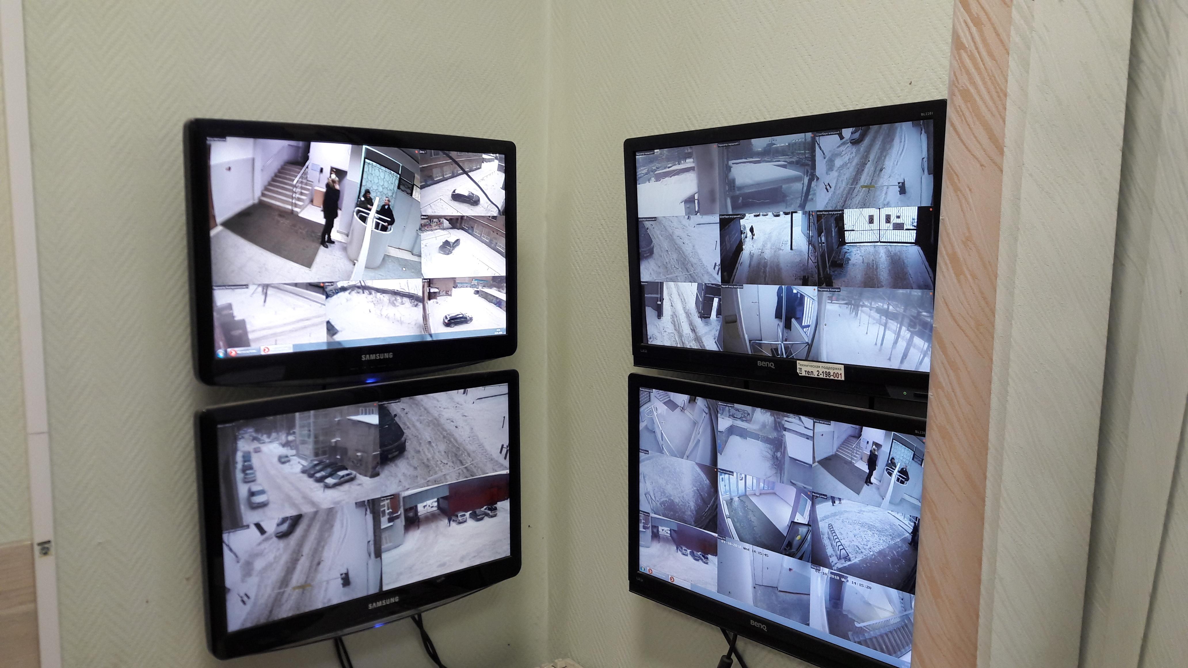 Рабочее место оператора системы видеонаблюдения