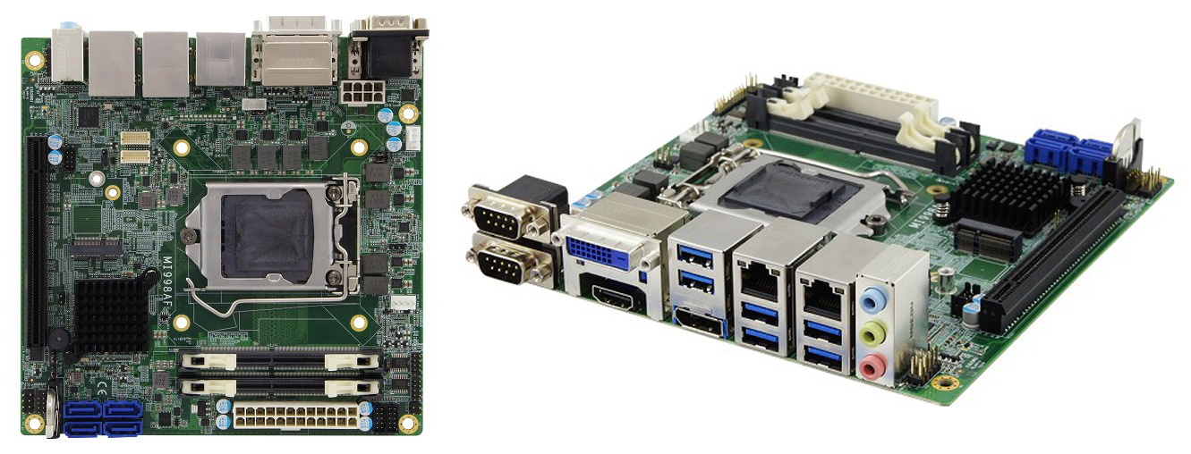 Материнская плата серии MI998 Mini-ITX компании iBASE