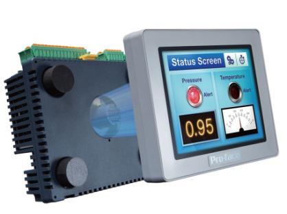 модульный программируемвй контроллер с интегрированной операторской панелью серии LT4000M