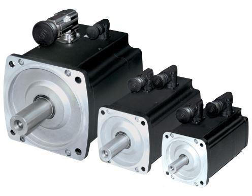 Высокомоментные двигатели серии DST производства компании Baumuller создают постоянный крутящий момент в диапазоне до 6130 Нм, обеспечивают степень защиты IP54 и включают в себя модели с полым валом (не показаны). Пиковый крутящий момент равен 13500 Нм. Варианты выбора обратной связи включают резольвер и синусно-косинусный преобразователь (дополнительная поставка).